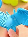silicon de tip fluture izolator clip (culoare aleatoare) 1 buc, unealtă de bucătărie