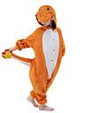 Kigurumi-pyjamas drake Tecknat Onesie-pyjamas Kostym Polär Ull Orange Cosplay För Barn Pyjamas med djur Tecknad serie halloween Festival