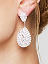 Pentru femei Cercei Picătură Ștras de Mireasă Elegant bijuterii de lux Ștras Argilă Picătură Lacrimă Bijuterii Pentru Nuntă Petrecere