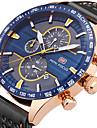 Bărbați Unic Creative ceas Ceas de Mână Ceas La Modă Ceas Sport Ceas Casual Quartz Calendar Cronograf Cronometru Piele Autentică Bandă
