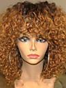 Ljudska kosa Perika pune čipke bez ljepila Full Lace Perika Rihanna stil Brazilska kosa Ravan kroj Kinky Ravno Ombre Perika 130% Gustoća kose s dječjom kosom Ombre Prirodna linija za kosu