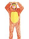 Pijama Kigurumi Tigru Pijama Întreagă Costume Flanel anyaga Cosplay Pentru Adulți Sleepwear Pentru Animale Desen animat Halloween