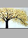 Pictat manual Floral/Botanic Orizontal,Art Deco/Retro Clasic & Fără Vârstă Un Panou Canava Hang-pictate pictură în ulei For Pagina de
