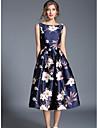 Pentru femei Șic Stradă Linie A Swing Rochie Floral Midi