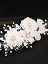 Tul Imitație de Perle Mătase  Aliaj Îmbrăcăminte de păr Flori Clip de păr 1 Nuntă Ocazie specială Zi de Naștere Party / Seara Diadema