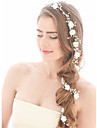 Imitație de Perle Banderolele / Lantul Capului cu 1 Nuntă / Ocazie specială / Zi de Naștere Diadema