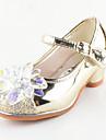 Fete Pantofi Flați Confortabili Noutăți Pantofi Fata cu Flori Paillertte Imitație de Piele Toamnă Iarnă Casual Rochie Paiete Toc Plat