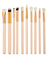 12 Concealer Brush Eyeliner Brush Brow Brush Eyeshadow Brush Synthetic Hair Eco-friendly Professional Synthetic Full Coverage Wood Eye Lip