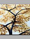 Pictat manual Floral/Botanic Art Deco/Retro Modern Un Panou Canava Hang-pictate pictură în ulei For Pagina de decorare