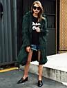 Pentru femei Capișon Mărime Plus Size Maxi Palton Piele Petrecere Zilnic Draguț Activ Șic Stradă, Mată Iarnă Blană Artificială