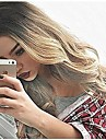 Syntetiska peruker Vågigt / Kroppsvågor Syntetiskt hår Värmetåligt / Ombre-hår Blond Peruk Dam Lång Utan lock