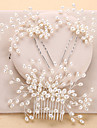 Imitation Pearl Hair Combs / Headwear with Floral 1pc Wedding / Special Occasion / Anniversary Headpiece