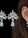 Pentru femei Cercei Picătură Zirconiu Cubic La modă Vintage Elegant Zirconiu Cubic Crown Shape Bijuterii Pentru Nuntă Logodnă Ceremonie