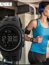 SKMEI Heren Sporthorloge Smart horloge Digitaal horloge Japans Kwarts Gewatteerd PU-leer Zwart 30 m Waterbestendig Kalender Afstandsbediening Digitaal Informeel - Zwart Zwart en Gold Rood Twee jaar