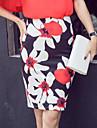 Pentru femei Bodycon Sofisticat Ieșire Fuste - Floral Imprimeu / Vară