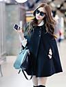 Pentru femei Rever Peaked Regular Palton Casul/Zilnic Simplu,Mată Iarnă Toamnă Altele