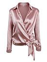Skjortekrage Skjorte Dame - Ensfarget Gatemote Ferie / Hoest