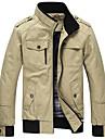 Bărbați Stand Mărime Plus Size Jachetă Mată Bumbac