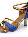 Pentru femei Pantofi Dans Latin Materiale Personalizate Călcâi Toc Înalt Personalizabili Pantofi de dans Maro / Rosu / Albastru