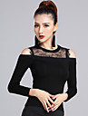 Latin Dance Tops Women\'s Training Modal Lace Long Sleeves Natural Top