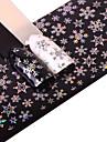 1 Nail Art-klistermärken Glitter Mönster Tillbehör Konst Dekor / Retro 3D Jul Nyår Tecknat Gör-det-själv-produkter Klistermärke makeup