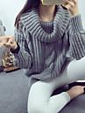 Damă Ieșire Vintage Regular Plover-Mată Manșon Lung Guler Pe Gât Nailon Primăvară Subțire Micro-elastic