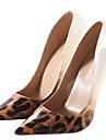 Pentru femei Pantofi PU Primăvară / Toamnă Balerini Basic Tocuri Toc Stilat Vârf ascuțit Negru și Argintiu / Leopard / Culoare ecran
