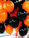 50pieces combo balon halloween 10 inci 2,2 grame de baloane inferioare netede de culoare portocalie și negre
