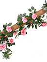 16 huvuden 2,2m rose vintag konstgjord blomma hem dekoration bröllop utbud