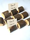 деревянные украшения зажимы держатели для визитных карточек свадебный прием шик& современное