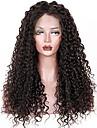 Remy-hår 360 Fasad Peruk Brasilianskt hår Lockigt 360 Frontal Med hästsvans 150% 180% Densitet Med Babyhår obearbetade 100% Jungfru Korta