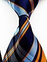 Bărbați Dungi Toate Sezoanele Dungi Poliester,Cravată Bleumarin