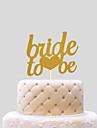 Vârfuri de Tort Nuntă Inimi Hârtie Nuntă cu 1 Sac PVC
