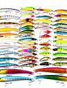 57 pcs Esca Esche rigide / Pesciolini / Manovelle Plastica / ABS Pesca di mare / Pesca a mosca / Pesca a mulinello / Pesca a ghiaccio / Spinning / Pesca a jigging / Pesca di acqua dolce