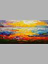 Hang-pictate pictură în ulei Pictat manual - Peisaj Abstract pânză