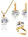 Pentru femei Zirconiu Cubic Set bijuterii - Zirconiu, Placat Auriu stil minimalist, Modă Include Auriu Pentru Nuntă / Zilnic