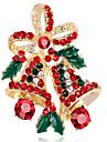Pentru femei Diamant sintetic Broșe - Floare Broșă Auriu / Argintiu Pentru Crăciun