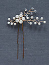 Pearl Crystal Headwear Hair Clip Hair Pin with Floral 1pc Wedding Special Occasion Party / Evening Headpiece