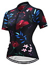 FUALRNY® Maillot de Cyclisme Femme Manches Courtes Velo Maillot Antiderapant Sechage rapide Respirabilite Haute elasticite Coolmax LYCRA®