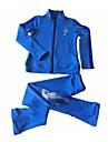Konståkningsjacka med byxor Dam Flickor Skridskor Träningsoverall Klädesset Fuchsia Blå Elastisk Prestanda Öva Skridskoplagg Enfärgad