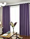Stångficka Hyls-topp Hällor topp Dubbel veckad Penn veck Fönster Behandling Europeisk, Färgat garn Enfärgad Sovrum Material gardiner