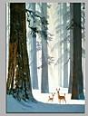 Hang-pictate pictură în ulei Pictat manual - Desene Animate Artistic Desen animat pânză