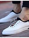 Bărbați Pantofi PU Primăvară / Vară Confortabili Adidași Alb / Negru