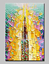 Pictat manual Abstract Vertical,Abstract Modern 1 buc Canava Hang-pictate pictură în ulei For Pagina de decorare