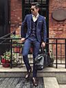 Bărbați Rever Clasic Mărime Plus Size Regular Costume Zilnic Simplu Casual, Dungi Iarnă Toamnă Poliester