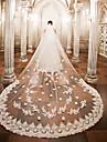Один слой Свадебные вуали Фата для венчания с Аппликации Кружева / Тюль / Крылья ангела