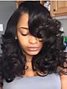 Äkta hår Spetsfront Peruk Brasilianskt hår Stora vågor Frisyr i lager Med babyhår 130% Densitet obearbetade 100% Jungfru Till färgade