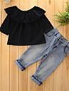 Fete Set Îmbrăcăminte Mată Vintage Bumbac Poliester Primăvară Toamnă Manșon Lung Oficial Stil Clasic Călătorie Prințesă Euramerican Tricou