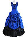 Medeltida kostymer Victoriansk Kostym Dam Klänningar Maskerad Festklädsel Blå Vintage Cosplay Cotton Ärmlös Lolita