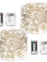 10m Fâșii de Iluminat 100 LED-uri Alb Cald / Alb / Multicolor Telecomandă / Intensitate Luminoasă Reglabilă / Rezistent la apă Baterie / IP65 / Schimbare - Culoare